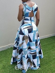 Clocolor Women Maxi Dress Off Color Block Maxi Dress White sleeveless O Neck Long high Waist Floor Length Gown . Latest African Fashion Dresses, African Dresses For Women, African Print Fashion, African Attire, Kitenge, White Maxi Dresses, Colorblock Dress, Ideias Fashion, Detachable Collar
