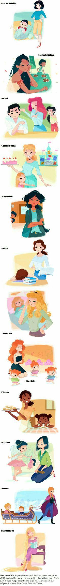 Princesas con sus hijos