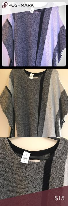 Poncho by Loft L/XL Beautiful Poncho. Nylon, wool, acrylic LOFT Sweaters Shrugs & Ponchos