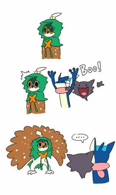 Decidueye gets freaked out by White Jelly >> artist? Pokemon Comics, Decidueye Pokemon, Pokemon Fan Art, Pokemon Fusion, Pokemon Images, Pokemon Pictures, Otaku, Catch Em All, Digimon