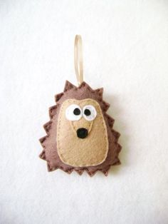Felt Christmas Ornament  Herb the Brown Hedgehog  by RedMarionette, $10.50