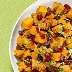 On the hunt for an exciting new side dish recipe? Try Sweet Potatoes with Cilantro. These spices and cilantro, put a Mexican spin on traditional yams,         recipe by Every Day with Rachael Ray RachelRayMag.com.
