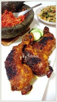 Ayam bakar bumbu opor + sambel korek