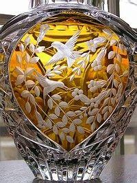 Julia Crystal Hummingbird Vase