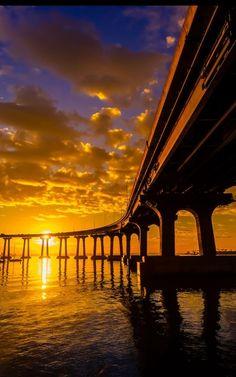 Coronado Bridge in San Diego. I love to drive this bridge.