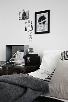 black and white interiors Netta Natalia | We Heart Home