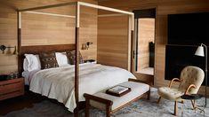 Caldera House: Luxury Resort in Jackson Hole by Commune Resort Interior, Home Interior, Interior Design, Jackson Hole Hotels, Jackson Hole Wyoming, Cozy Bedroom, Home Decor Bedroom, Modern Bedroom, Bedroom Ideas