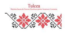 Model traditional din Tulcea, Dobrogea Folk Embroidery, Ribbon Embroidery, Cross Stitch Boards, Life Tattoos, Tapestry, Sewing, Crochet, Creative, Pattern