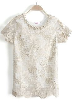 Vintage Embroidery Lace Blouse