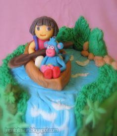 Dora the explorer cake by Cakes by Pixie Pie, via Flickr