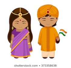 Indians in national dress with a flag. A man and a woman in traditional costume…. Indians in national dress with a flag. A man and a woman in traditional costume. Children's Book Characters, Cartoon Characters, World Thinking Day, World Crafts, Kindergarten Activities, Diversity Activities, Happy Independence Day, People Of The World, Design Thinking