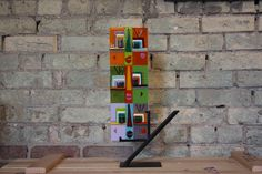 """Fused Glass Faces- Orange, Green, Lavender 5x15"""" Fused Glass, Wine Rack, Lavender, My Arts, Faces, Artists, Orange, Rugs, Gallery"""