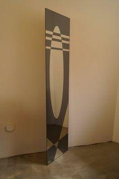 Miroir Jacques Hitier pour Marly 1960 45x180cm - verre et cristal - bleu - design - JjyZ7AI Artwork, Home Decor, Crystal, Full Body Mirror, Decorate Mirror, Blue Crystals, Divider Screen, Drinkware, Work Of Art