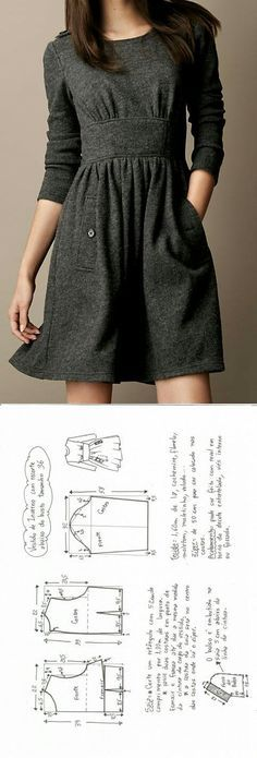 Winter cloth dress. Make your own dress with this sewing tutorial and sewing pattern. For more sewing patterns, sewing tips and sewing tutorials visit http://you-made-my-day.com/