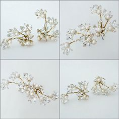 Erin Cole Bridal Hair Accessories. These are our favorite hairpins from our new 2015 collections. Sparkling and glamorous this hairpin does stand solo quite well. However...one can combine two or more pins to create absolutely stunning designs in one's hair. https://perfectdetails.com/3694-SP.htm