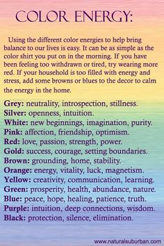 Colors to balance our energies.,,