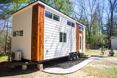 Just got this from Marcus at Liberation Tiny Homes.It's theirlatest completed and furnished tiny homeand will be listed on Airbnb shortly. I'll update this post when it goes live. Here are some specs: 28′ shed roof style LP Smartside siding with pine wood accents Galvalume metal roofing Vinyl plank flooring Birch plywood wall paneling LED …