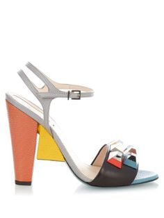 Rainbow stud-embellished block-heel sandals | Fendi | MATCHESFASHION.COM UK