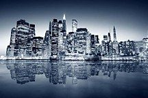 Manhattan Reflection, a wallpaper wall mural from Magic Murals. We deliver premium wall murals crafted with care. City Lights Wallpaper, City Iphone Wallpaper, Thomas Merton, Wall Murals Bedroom, Blue City, Water Reflections, Le Site, Night City, City Photography