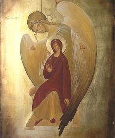 My sister Olja is very much like this icon to me. She is a good woman and person, guarded by her guardian Angel Gavrilo. This is an image of Orthodox Presvetla Bogorodica Velikoblagodatna, could be found in Greece.