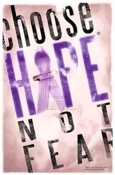 Choose Hope Not Fear. Pancreatic cancer
