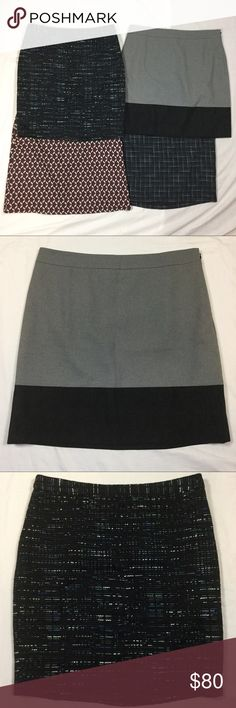 4 Ann Taylor and LOFT Skirts. All size 8 Set of 4 skirts. 3 LOFT, 1 Ann Taylor. Samples. Measurements for all or additional photos upon request. Feel free to ask any questions. I will sell them individually if that is desired. I offer a 15% discount on all bundles. Open to offers! (A) Ann Taylor Skirts Skirt Sets