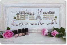 Paris mon Amour  Cross stitch Pattern by MadameChantillyxxx