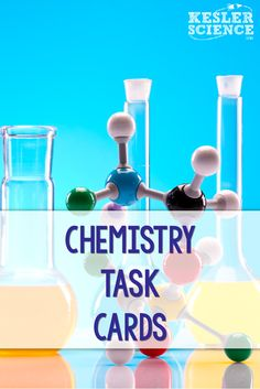 Ideas on how to use task cards as a fun review activity for your students! These chemistry task cards cover atomic structure, protons, neutrons, electrons, metals, nonmetals, metalloids, chemical changes, chemical equations, and more! High School Chemistry, Chemistry Lessons, Chemistry Teacher, Science Chemistry, Middle School Science, Science Lessons, Teaching Science, Physical Science, Teaching Ideas