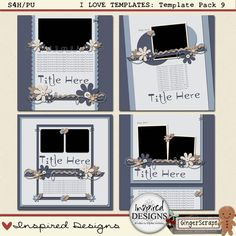 I LOVE TEMPLATES: Template Pack 9