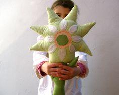 FLOWER PILLOW  home decor throw pillow handmade by SewnNatural, $55.00