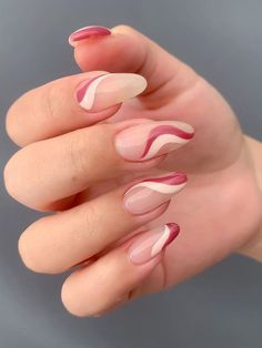 Simple Acrylic Nails, Almond Acrylic Nails, Best Acrylic Nails, Simple Nails, Almond Nail Art, Cute Almond Nails, Short Almond Nails, Edgy Nails, Funky Nails