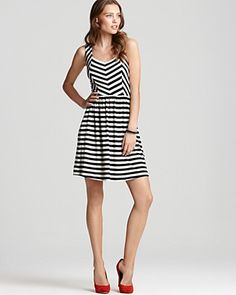 """You can't go wrong with a striped dress."" ... no you can't."