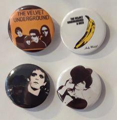 Set of 4 Button Badges. Size: 25 cm (1 inch). Button Badge, Badges, Velvet, Buttons, Badge, Knots, Lapel Pins, Plugs