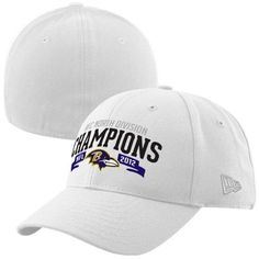 NFL New Era Baltimore Ravens 2012 AFC North Division Champions Machine 39THIRTY Flex Hat - White by New Era. $24.95. New Era Baltimore Ravens 2012 AFC North Division Champions Machine 39THIRTY Flex Hat - WhiteStructured fitStretch-fitOfficially licensed NFL productQuality embroideryStructured fitStretch-fitQuality embroideryOfficially licensed NFL product