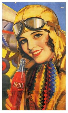 Nehi  Choice of Aviatrices 1931; illustration by Rolf Armstrong