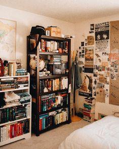 Home Library Ideas Diy Bookshelves Interior Design 47 Ideas Dream Rooms, Dream Bedroom, Girls Bedroom, Master Bedroom, Aesthetic Room Decor, Vintage Room, Bedroom Vintage, Room Goals, Dream Apartment
