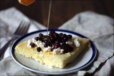 Blueberry Honey Ricotta Pancakes, gluten free!