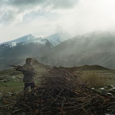 Benjamin Rasmussen has spent time photographing Afghanistan's Wakhan Corridor, which is located in the north east corner of Afghanistan. Here, A Wakhi shepherd collects firewood in the Big Pamir Mountains.