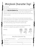 parent letter for storybook character day