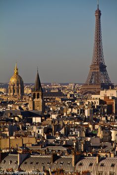 Paris from Notre Dame by Klinkvort, via Flickr