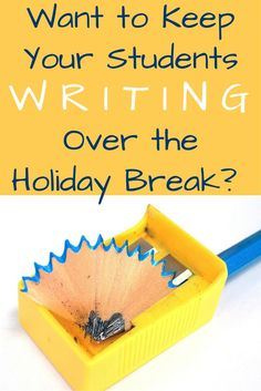 Want to keep your students' writing skills sharp over the break?  Want to make sure they're practicing what you've taught them so far?  Don't want them to return not remembering how to hold a pencil?  Check out this engaging resource that will keep them writing for days!