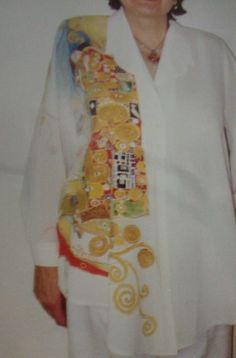 malba na hedvábí...moje modely/Gustav  Klimt/MALBA   ZDENKA  MĚŘIČKOVÁ ART.