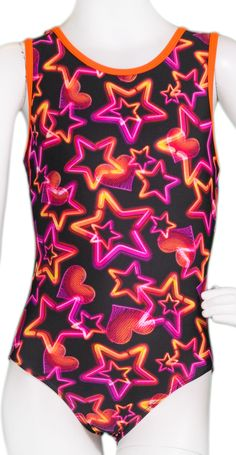 Orange Neon Lights Leotard #leotards #gymnastics #leotard #gymnast