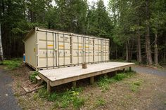 A Canadian man built this off-grid shipping container home for...
