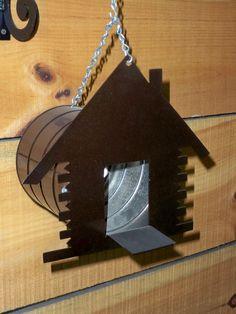 Tin can cabin bird house....