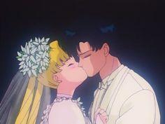 Serena aka Sailor Moon and Darien aka Tuxedo Mask