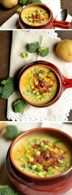 Cheddar Broccoli & Potato Soup More
