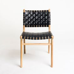 The Tanner dining chair in Black from Barnaby Lane