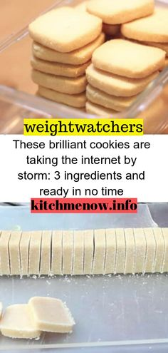 These brilliant cookies are taking the internet by storm: 3 ingredients and ready in no time // WeightWatchers weight_watchers Healthy Skinny_food recipes smartpoints letseat eating happy nice ingredients cookies 560346378636927239 Ww Desserts, Healthy Desserts, Delicious Desserts, Healthy Recipes, Dessert Recipes, Yummy Food, Dessert Food, Healthy Cookies, Weight Watcher Cookies
