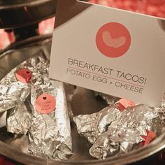 Cute breakfast tacos! Just add stickers and sign to match